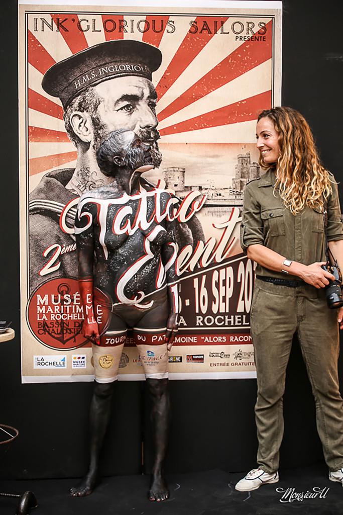 Live Body painting Salon du tatouage La Rochelle